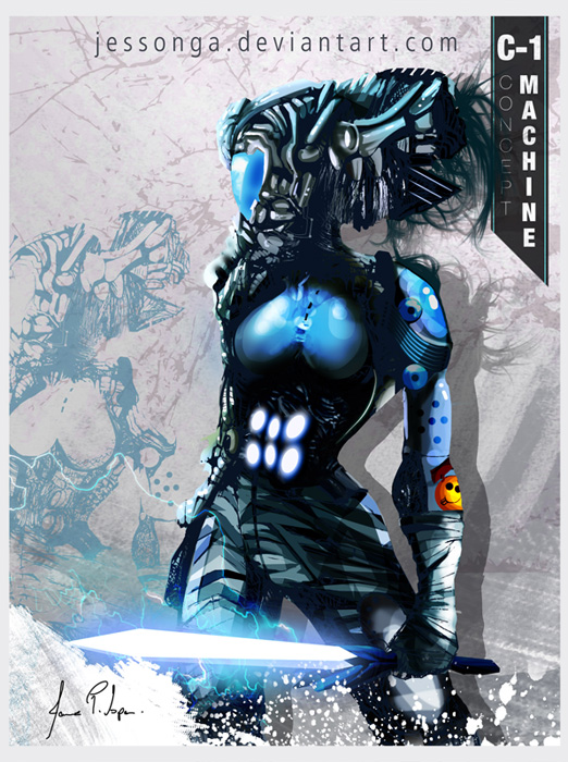 Concept Art - Machine Warrior by Jessonga