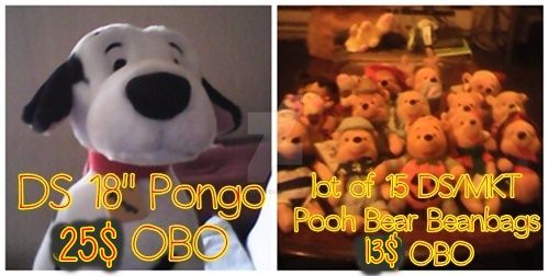 FOR SALE - DS Pongo and lot of 15 Pooh Bear's! by CastleWolfie