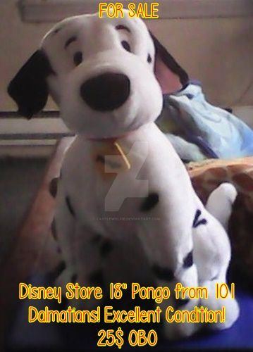 FOR SALE - Disney Store 101 Dalmatians Pongo Plush by CastleWolfie