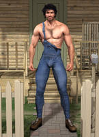 Hunky Male Farmhand by KevIzz