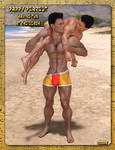 Daddy Dearest Having Fun On The Beach