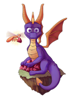 Spyro and Sparx by lets4dead
