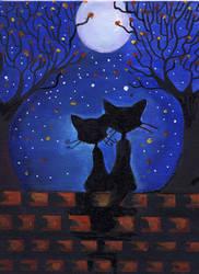 Halloween Valentine by striffa-raven