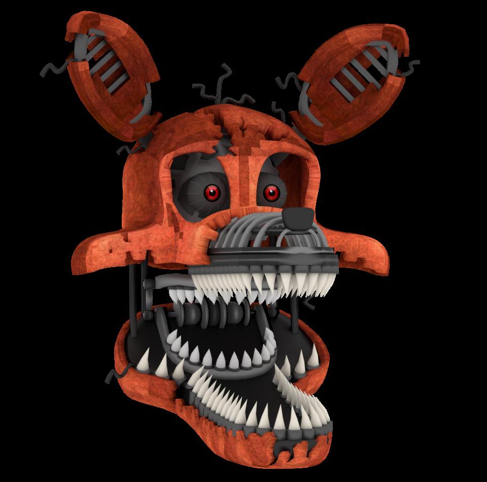 Nightmare Foxy Head By A1234agamer On DeviantArt