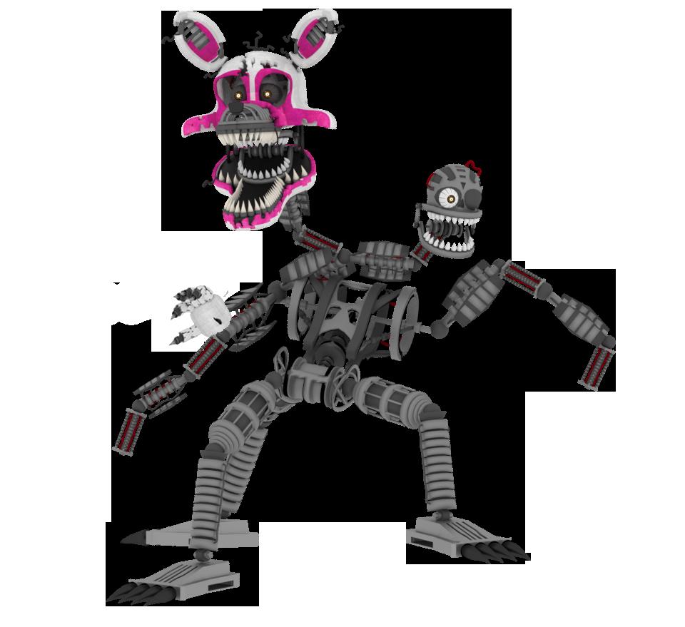 Nightmare Mangle On 3D-FNAF