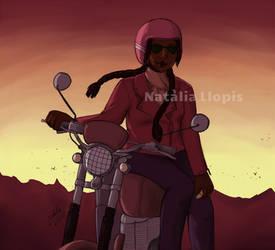 Sunset After a Long Ride by Zefiracks