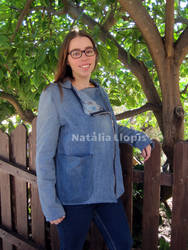Denim Jacket from Old Jeans by Zefiracks