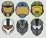 Halo - Spartan Helmet Drawings - (Wave 1) by Arbiter376
