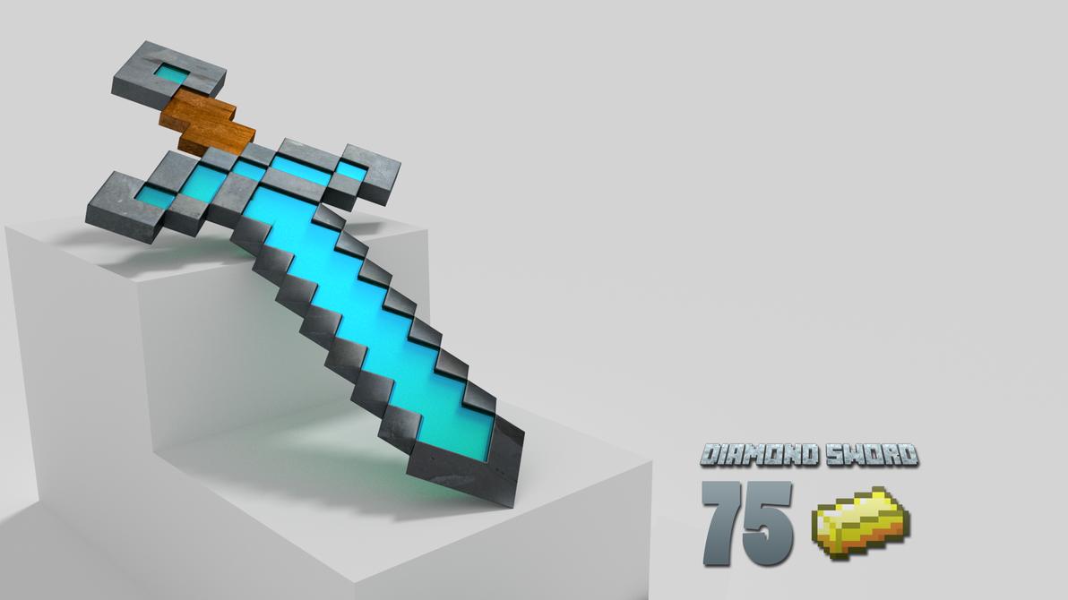 Diamond Sword Minecraft Png Diamond Sword From Minecraft