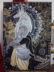 Anubis and Bastet by TulasiStocker