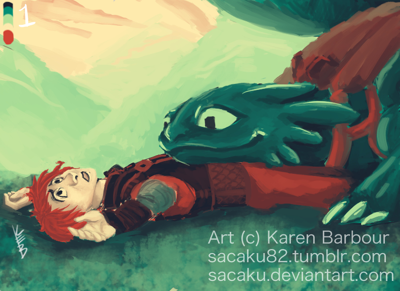 Hiccup+Toothless 1 by sacaku