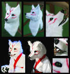 Okami - Amaterasu fursuit mask