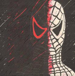 Spiderman scratch art by nyxlovescookies
