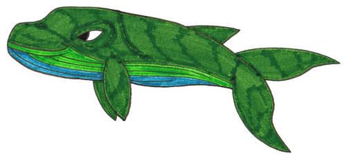 Green Whale by Genie-Dragon