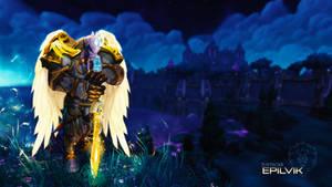 Epilvik Wallpaper - World of Warcraft by ginnypinnyart