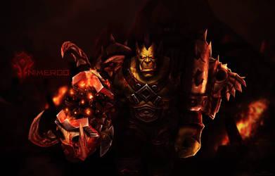 Nimerod Wallpaper - World of Warcraft by ginnypinnyart
