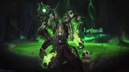 Turtlemilk Wallpaper - World of Warcraft by ginnypinnyart