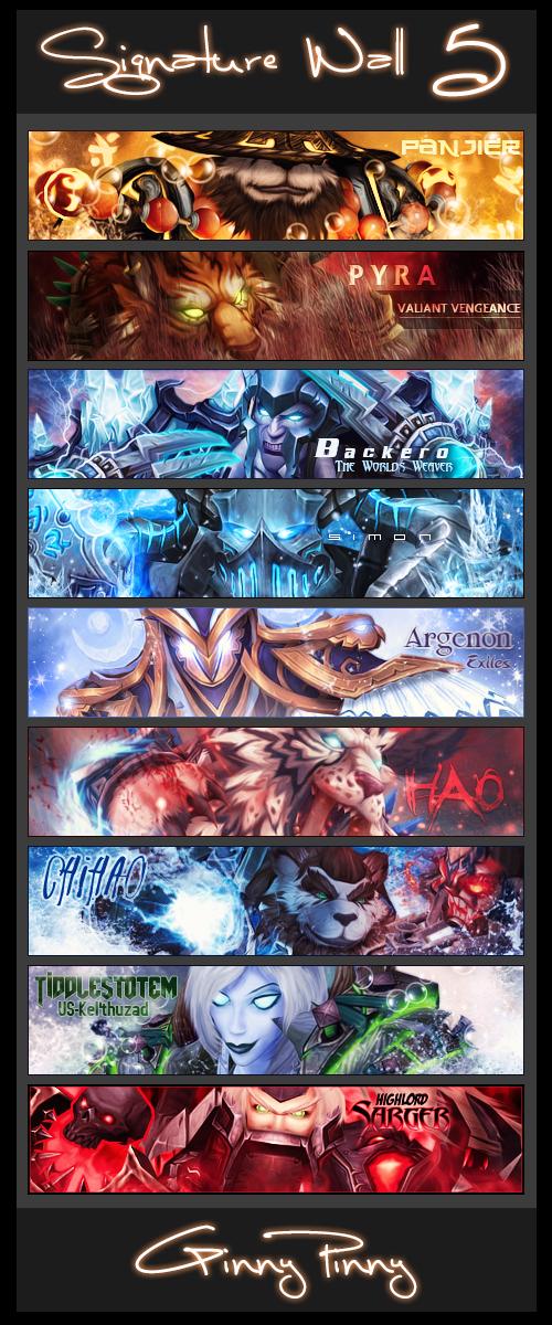Signature Wall 5 - World of Warcraft by ginnypinnyart