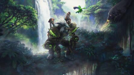 skadi-s 68 7 Animated Wallpaper - World of Warcraft by ginnypinnyart