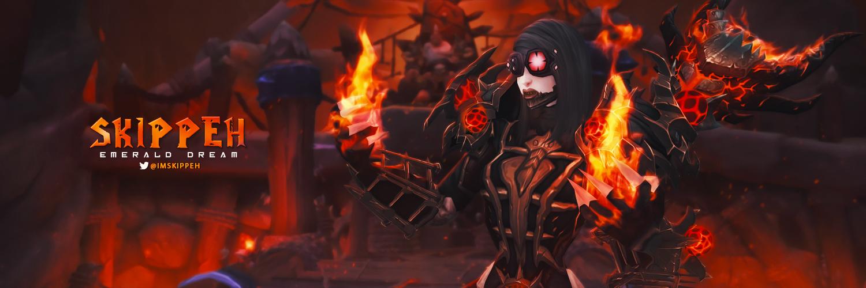 Skippeh Twitter Banner - World of Warcraft by ginnypinnyart