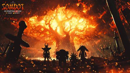 Somdot Starting Soon Image - World of Warcraft by ginnypinnyart