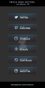 Twitch Panel Buttons - Khares TV