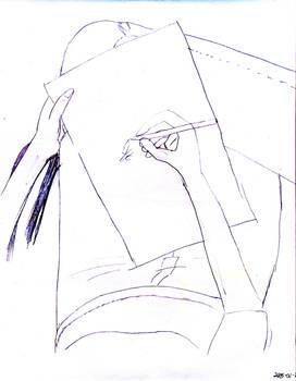 Sketch of Self Portrait