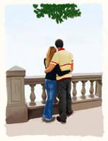 Couple on balcony by trybutfail