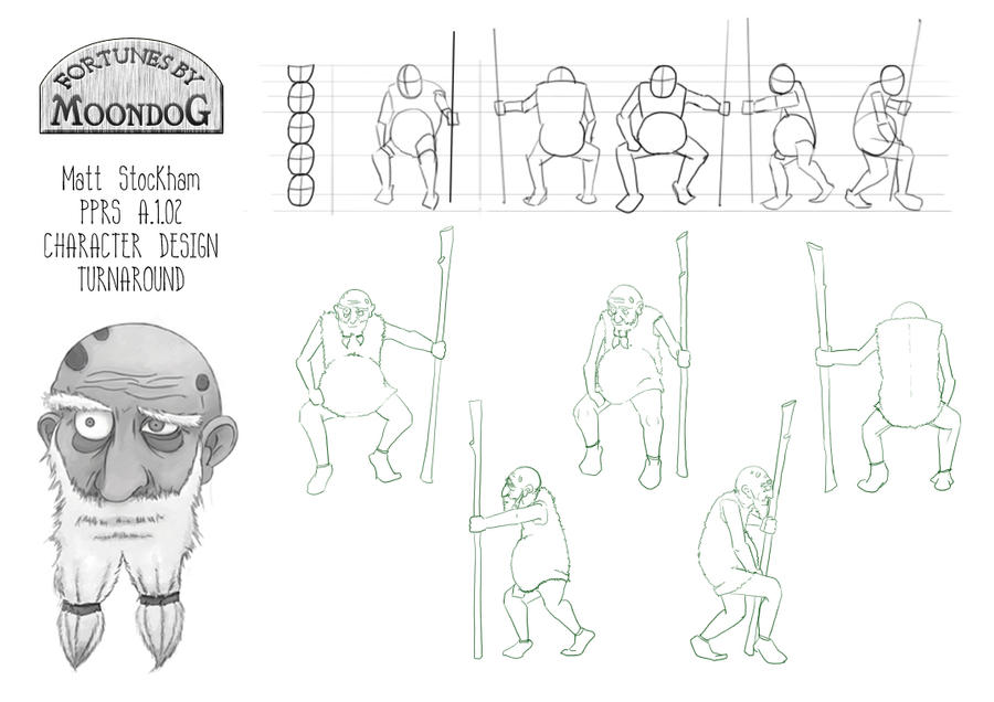 Moondog Character Turnaround Sheet by trybutfail