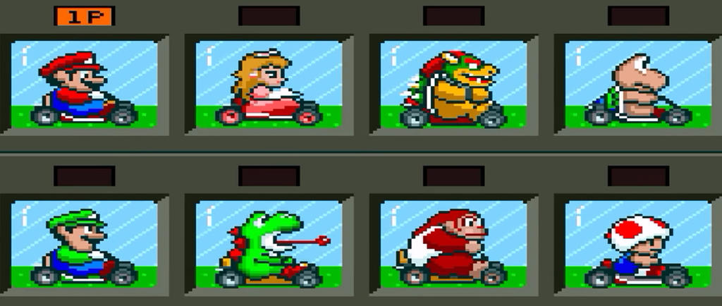 Super Mario Kart Snes Character Select Screen By Silverjeff303