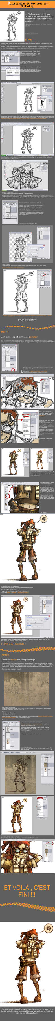 TUTORIAL - colo sur Photoshop by sssashimi