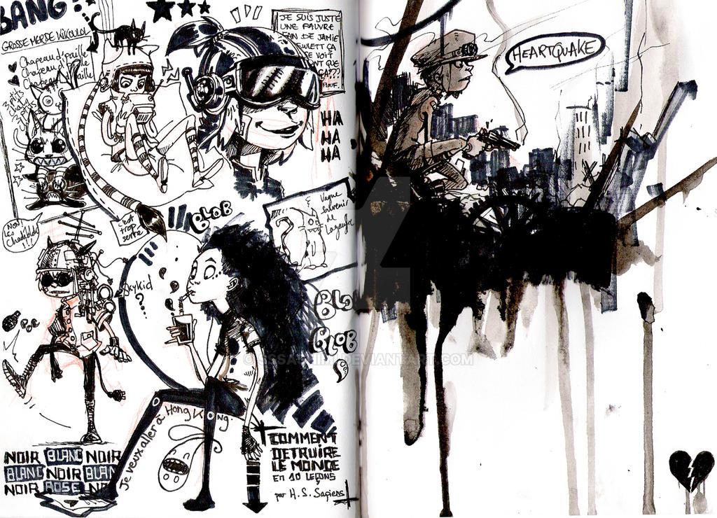 Heartquake - sketchbook by sssashimi