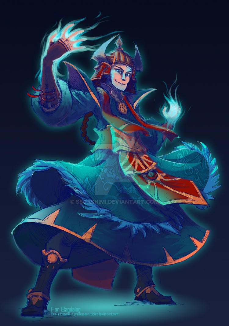 King Gesar - Comission for Bagdalog by sssashimi