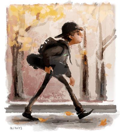# 15 - Skinny Skater by sssashimi