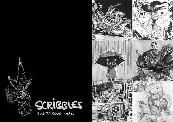 SCRIBBLES - sketchbook 2014 by sssashimi