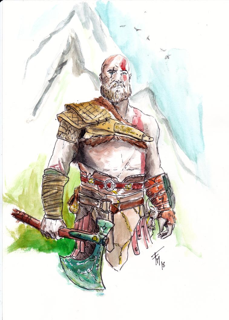 KRATOS (God of War by batblues