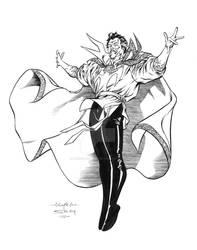 Guile Dr Strange inks