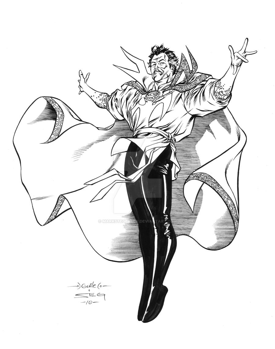 Guile Dr Strange inks by MarkStegbauer
