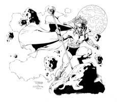 Adam Warlock inks by MarkStegbauer