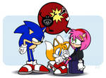 Sonic and Amy and Tails and Untitled