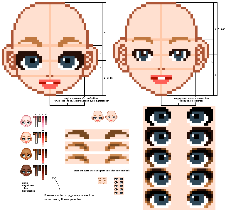 face tutorial -updated- by mouldyCat on DeviantArt