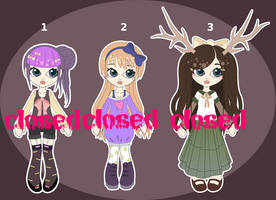 [CLOSED] First NonPixel Adoptables :O by mouldyCat