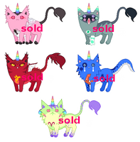 [CLOSED | AUCTION] Mutant UniCat Adoptables by mouldyCat