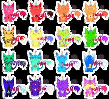 [RAFFLE   CLOSED] Uni(Hell)Cats Rainbow Sheet by mouldyCat