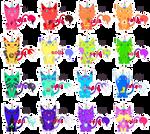[RAFFLE   CLOSED] Uni(Hell)Cats Rainbow Sheet