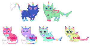 [CLOSED] Shark Mutant Kittens :D by mouldyCat