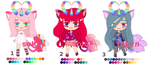 [CLOSED] new triplecat type humanoids! :3 by mouldyCat