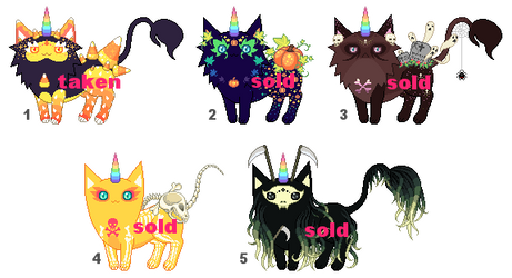 [AUCTION - CLOSED] New Halloween Mutants by mouldyCat
