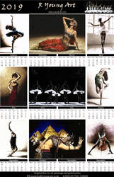 2019 fine art dance calendar by ryoung