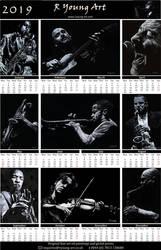 2019 fine art musicians calendar